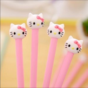 4pk Hello Kitty black pens